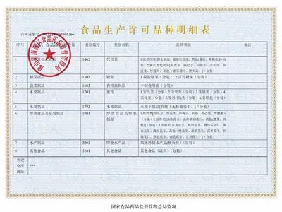 尚谷-食品生产许可证