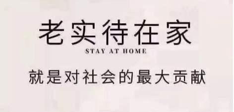 老实呆在家就是做贡献